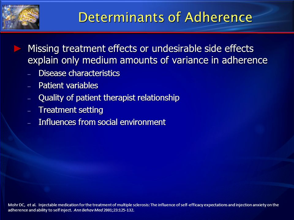 Determinants of Adherence