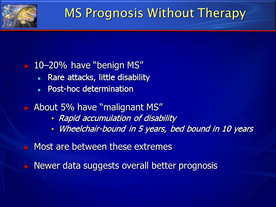 MS Prognosis Without Therapy
