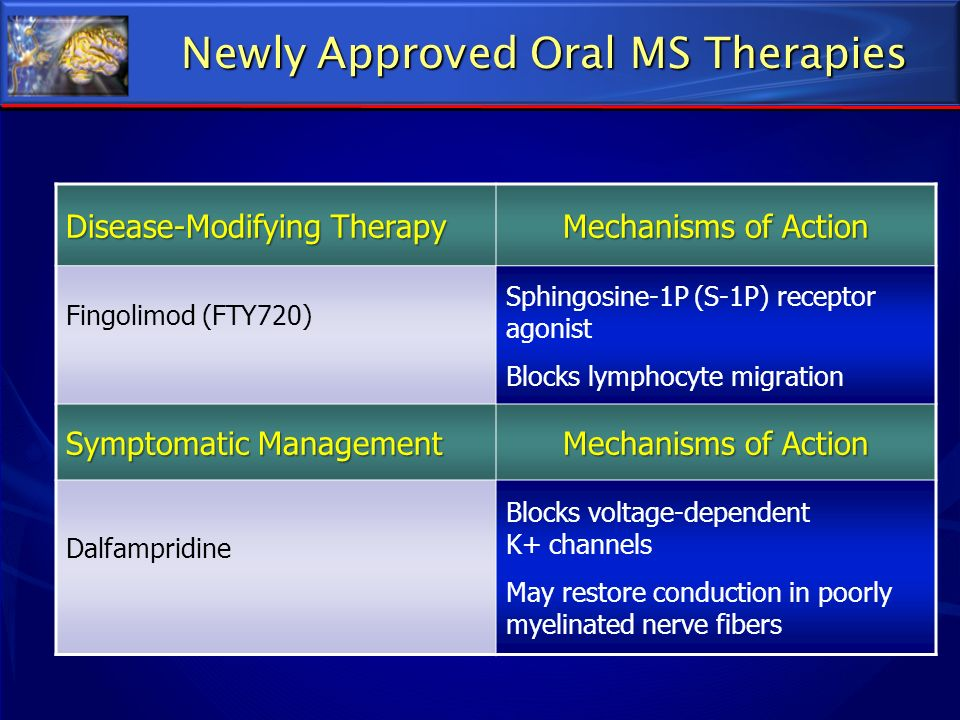 Newly Approved Oral MS Therapies