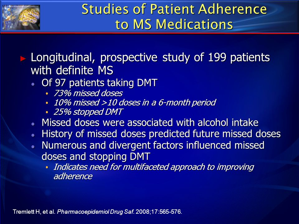 Studies of Patient Adherence to MS Medications