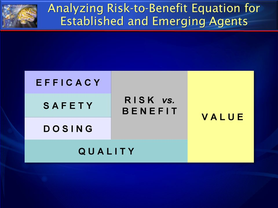 Analyzing Risk-to-Benefit Equation for Established and Emerging Agents