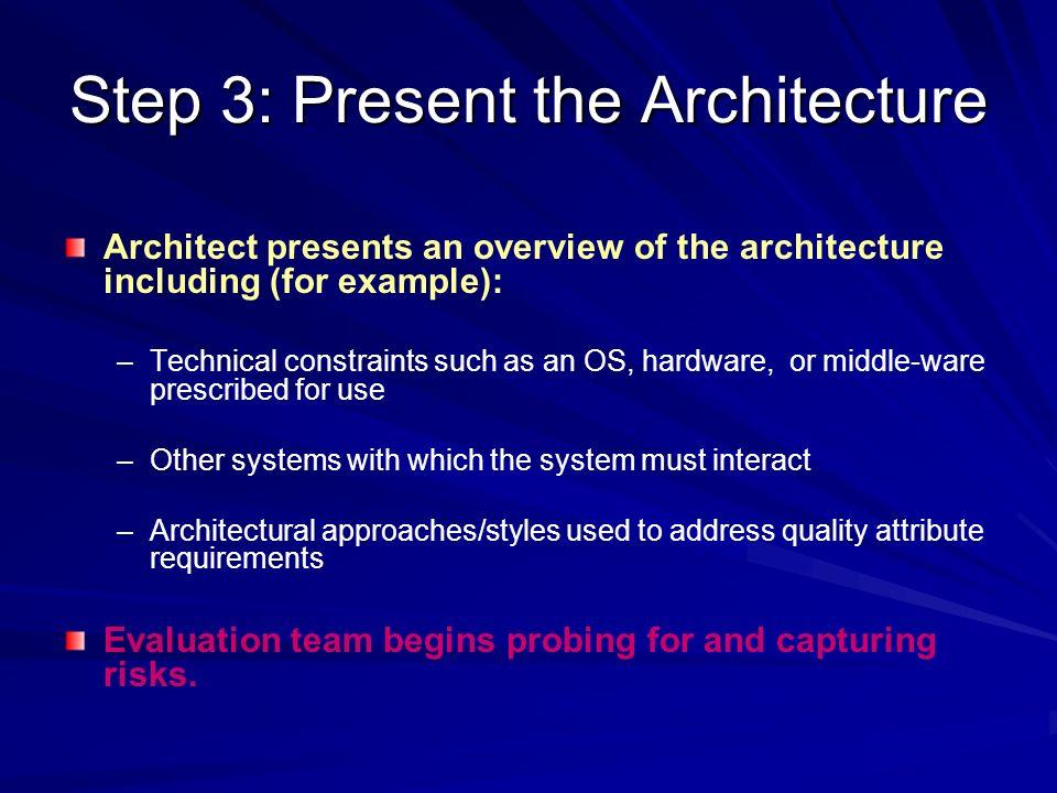 Step 3: Present the Architecture