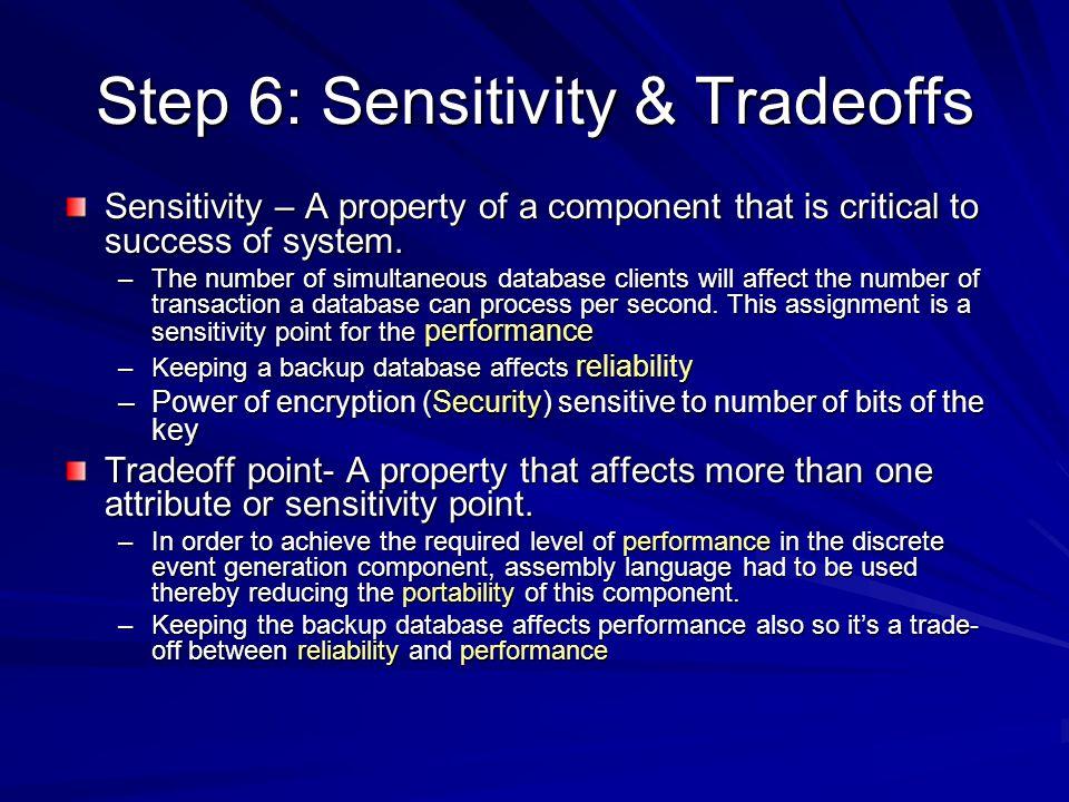 Step 6: Sensitivity & Tradeoffs