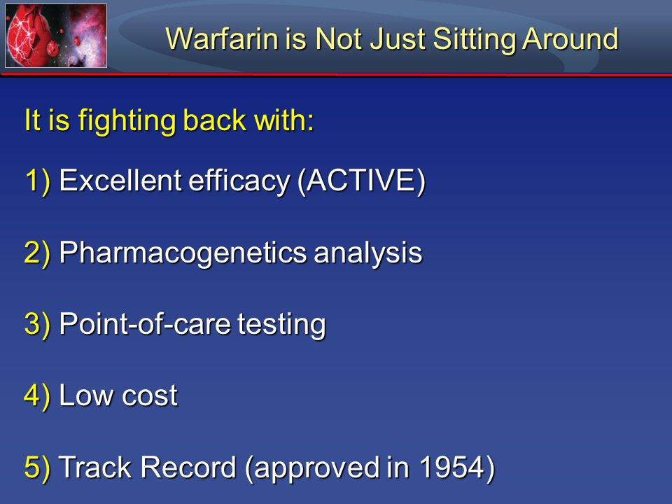 Warfarin is Not Just Sitting Around
