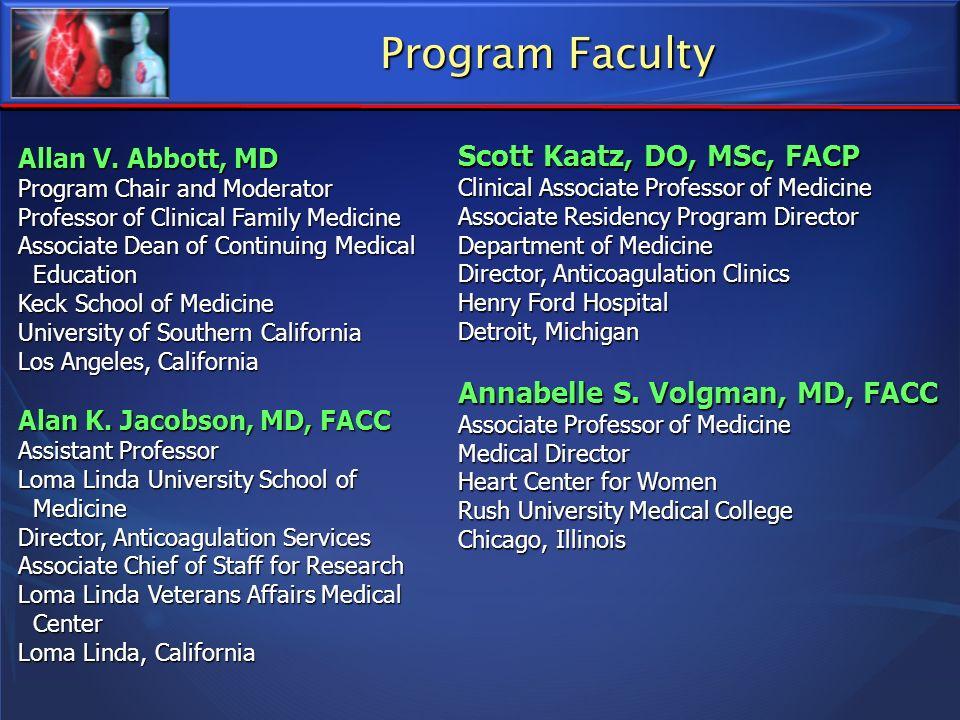 Program Faculty Scott Kaatz, DO, MSc, FACP
