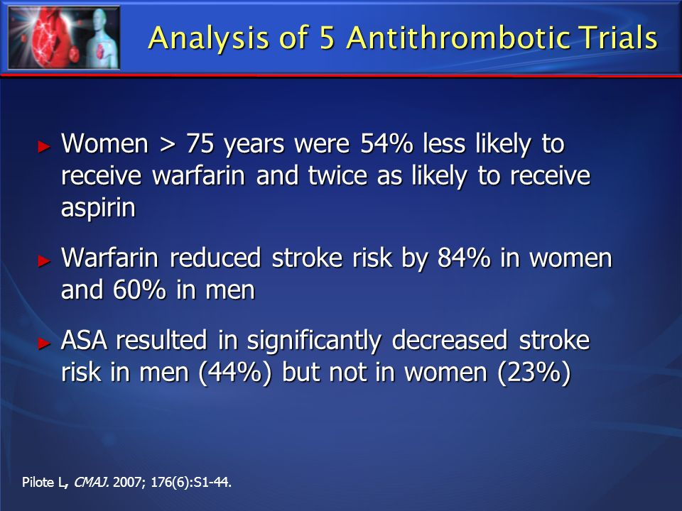Analysis of 5 Antithrombotic Trials