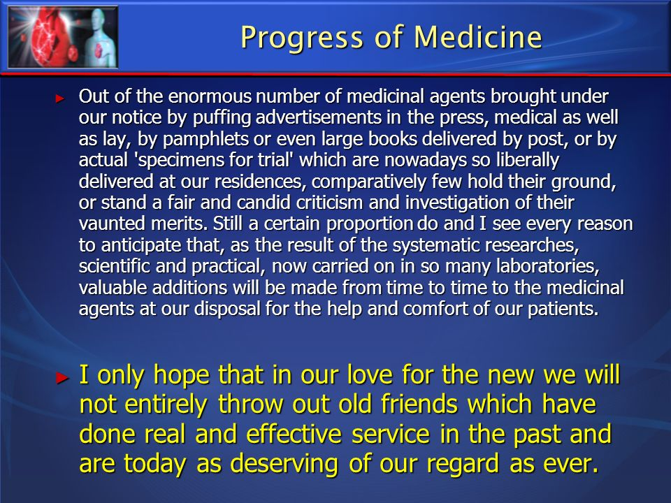 Progress of Medicine