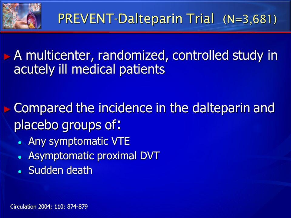 PREVENT-Dalteparin Trial (N=3,681)