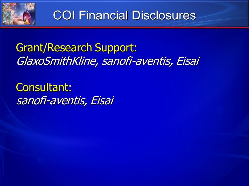 COI Financial Disclosures