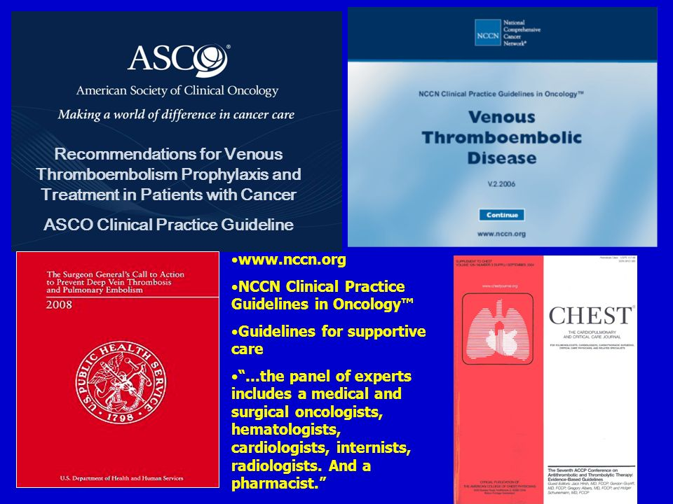 ASCO Clinical Practice Guideline
