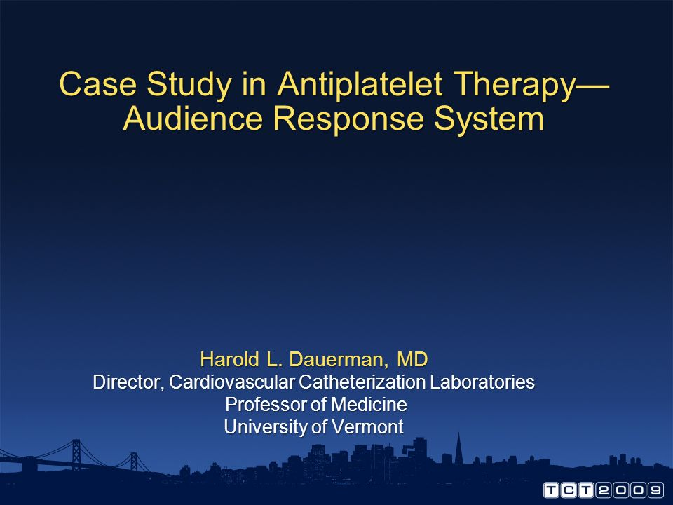 Case Study in Antiplatelet Therapy— Audience Response System