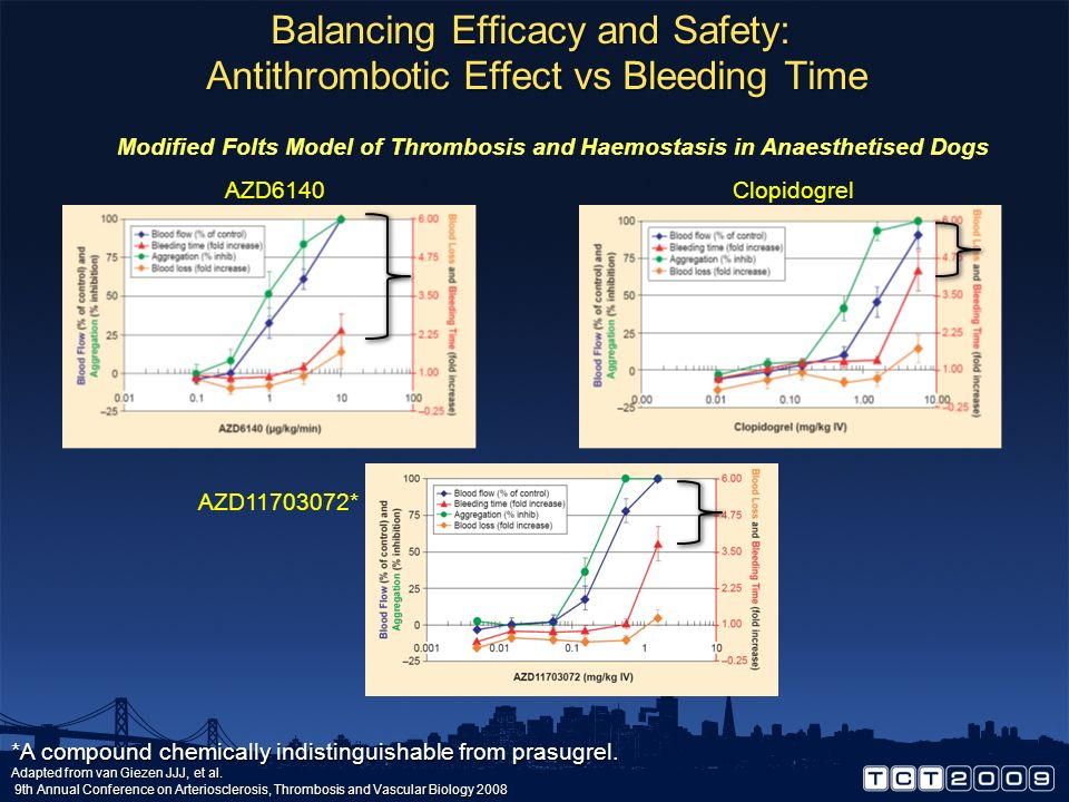 Balancing Efficacy and Safety: Antithrombotic Effect vs Bleeding Time