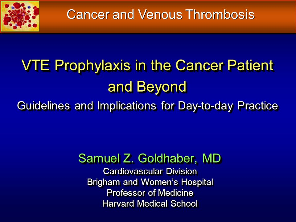 Cancer and Venous Thrombosis
