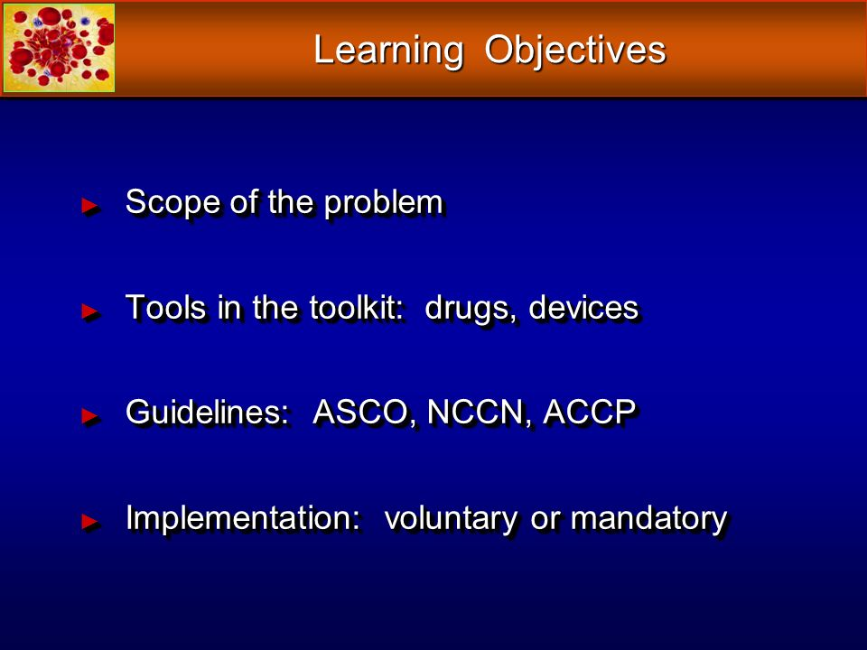 Learning Objectives Scope of the problem