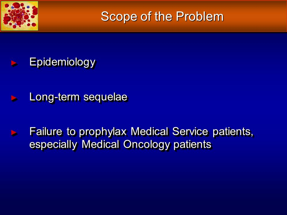 Scope of the Problem Epidemiology Long-term sequelae