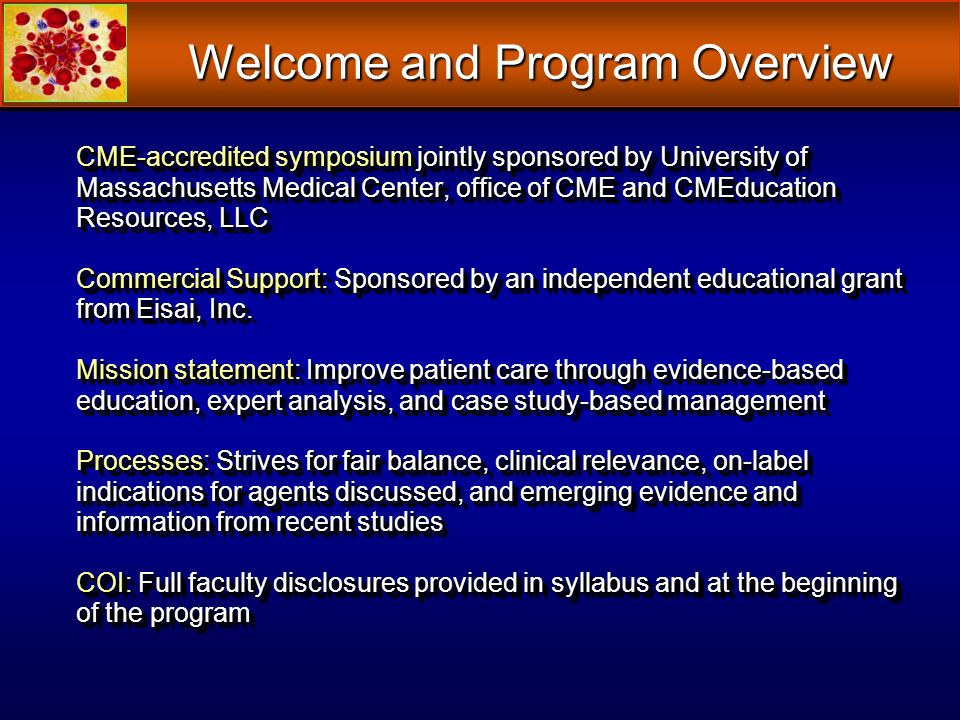 Welcome and Program Overview