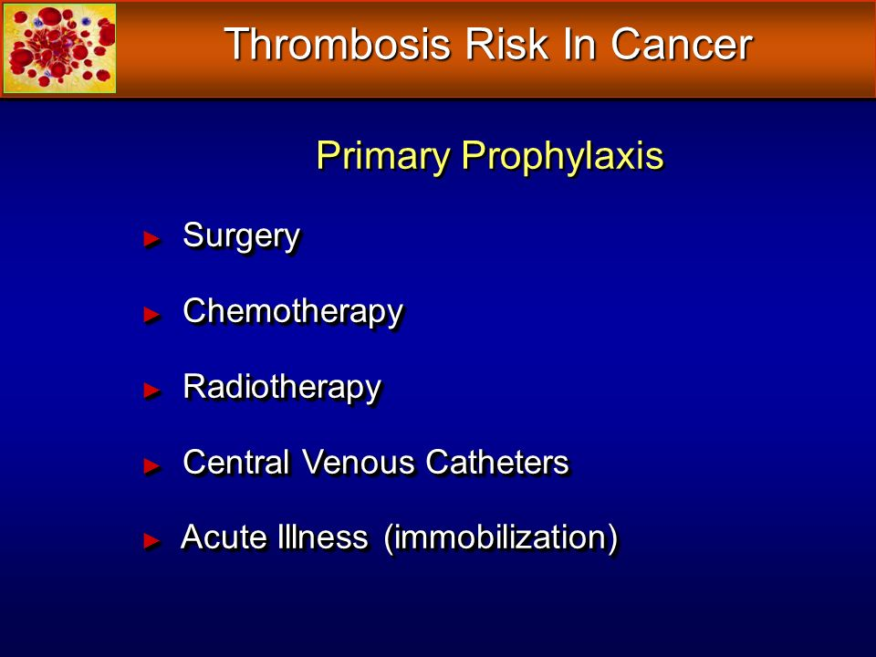 Thrombosis Risk In Cancer
