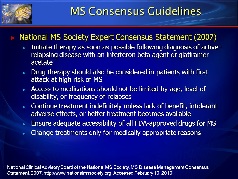 MS Consensus Guidelines