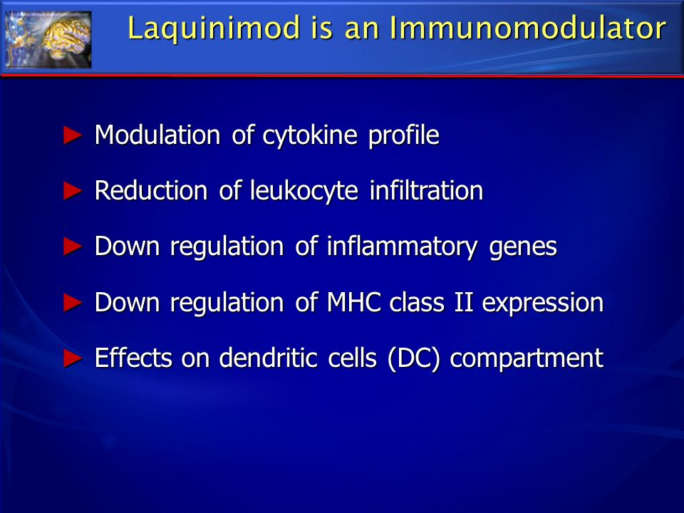 Laquinimod is an Immunomodulator