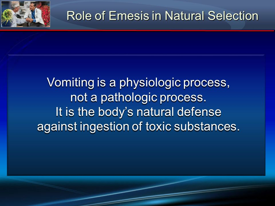 Role of Emesis in Natural Selection