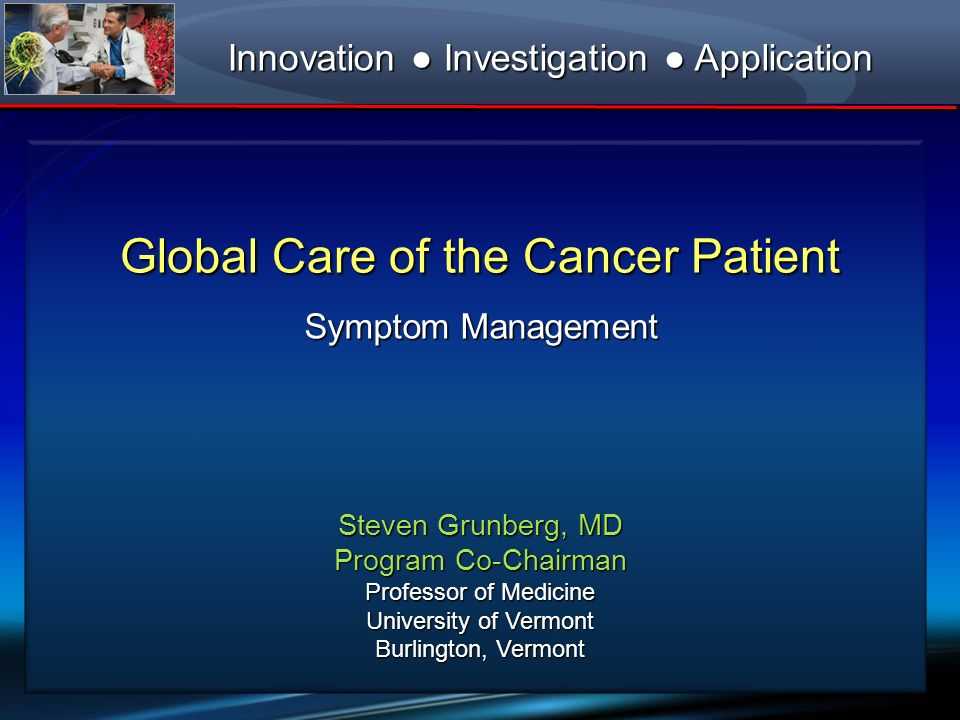 Global Care of the Cancer Patient