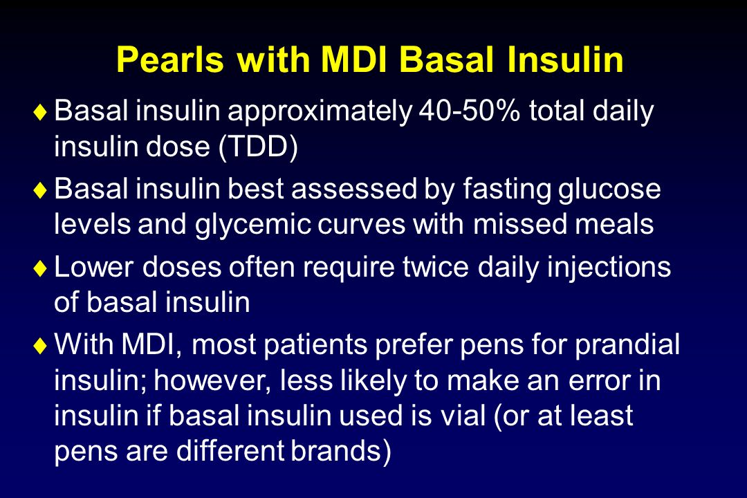 Pearls with MDI Basal Insulin