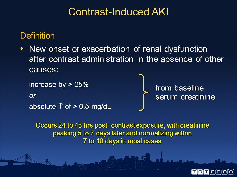 Contrast-Induced AKI Definition