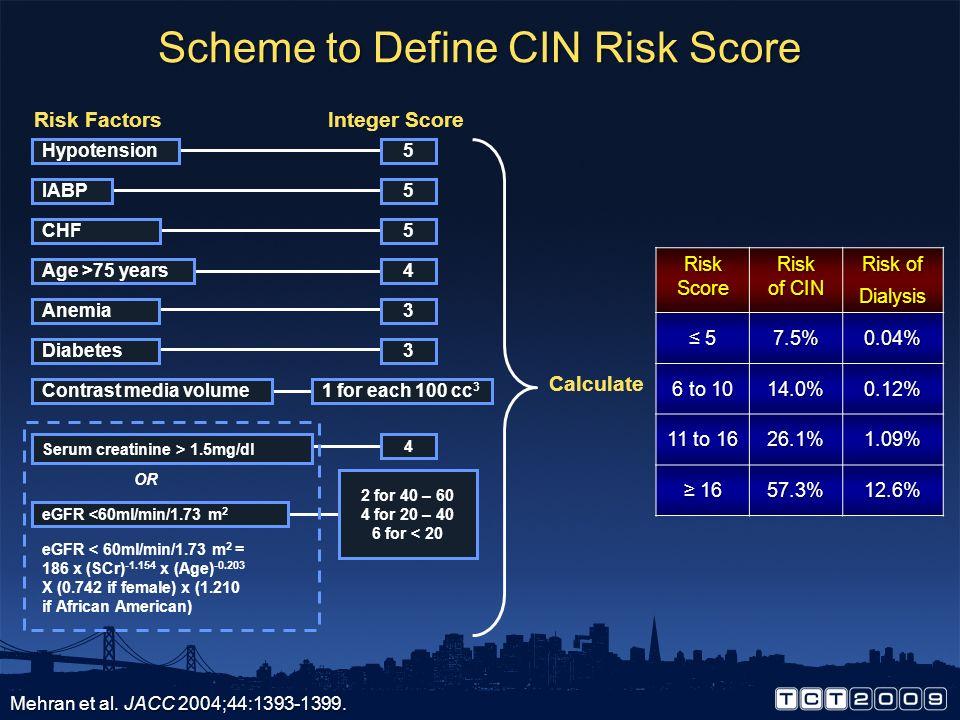Scheme to Define CIN Risk Score