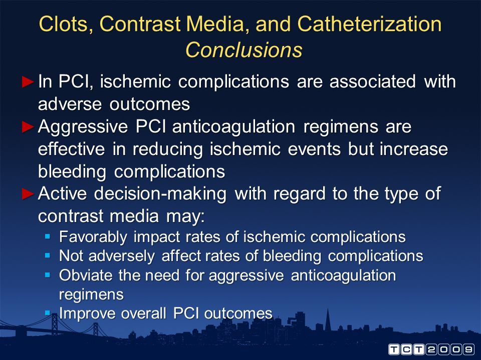 Clots, Contrast Media, and Catheterization Conclusions