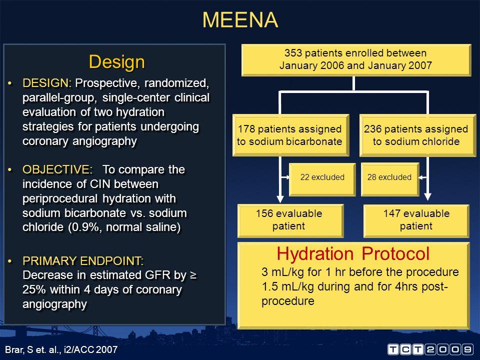 MEENA Design Hydration Protocol