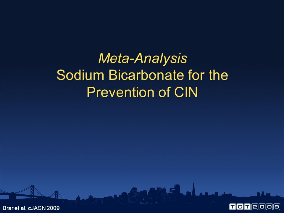 Sodium Bicarbonate for the Prevention of CIN