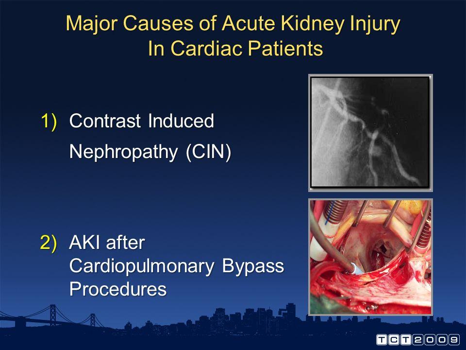 Major Causes of Acute Kidney Injury In Cardiac Patients