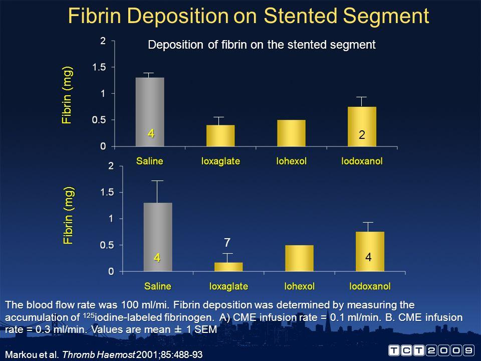 Fibrin Deposition on Stented Segment