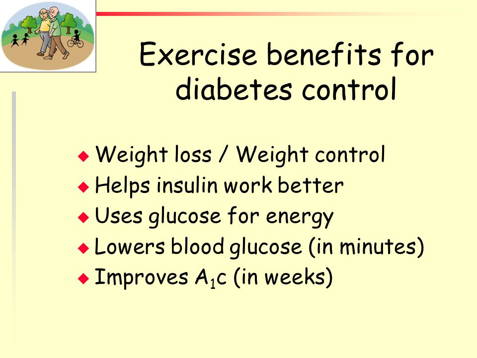 Exercise benefits for diabetes control