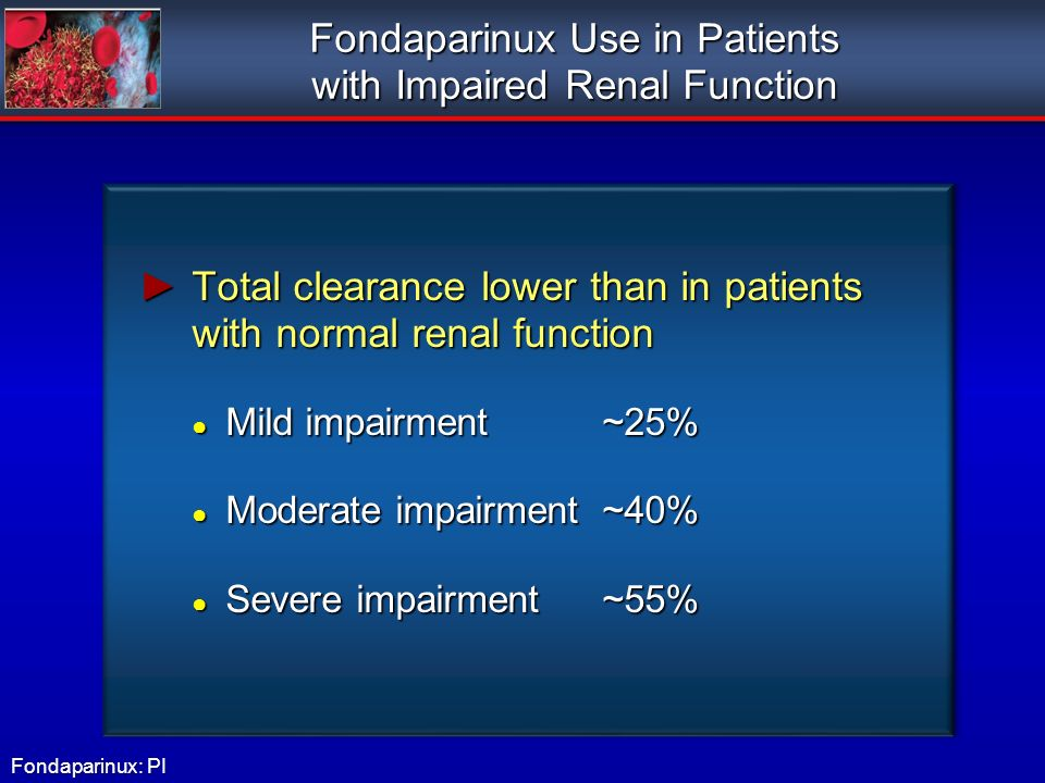 Fondaparinux Use in Patients with Impaired Renal Function