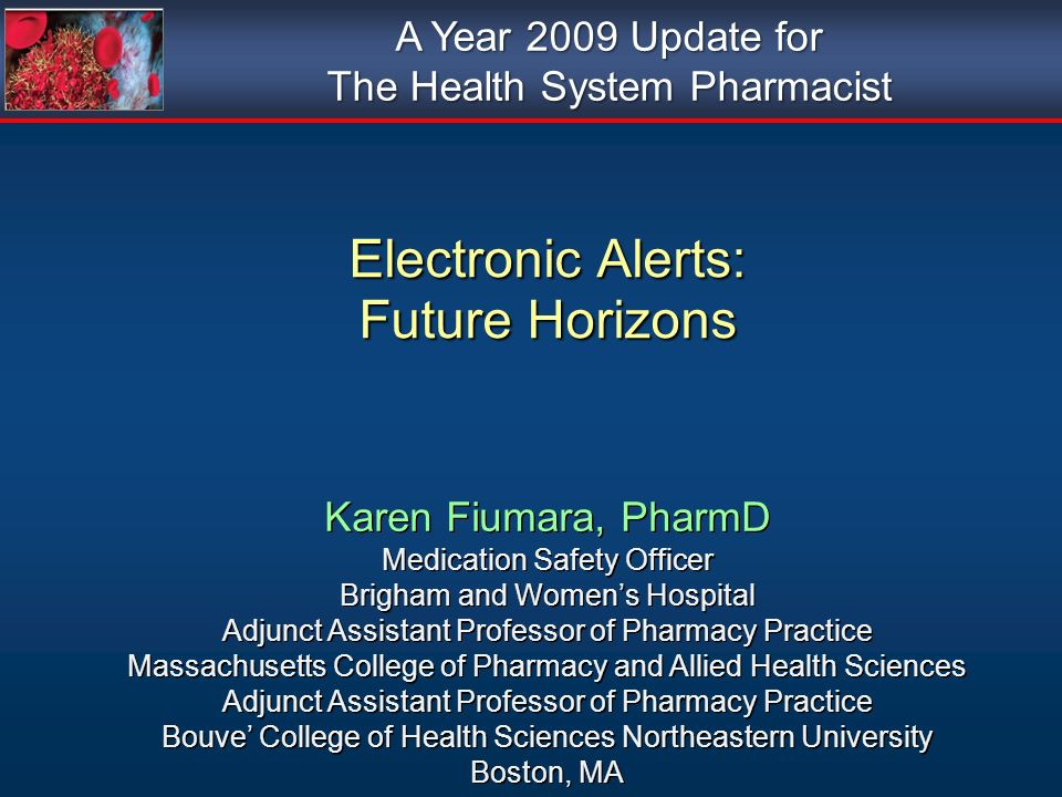 Electronic Alerts: Future Horizons