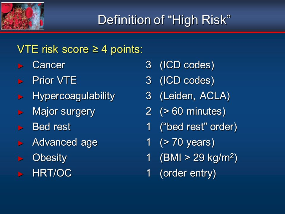 Definition of High Risk