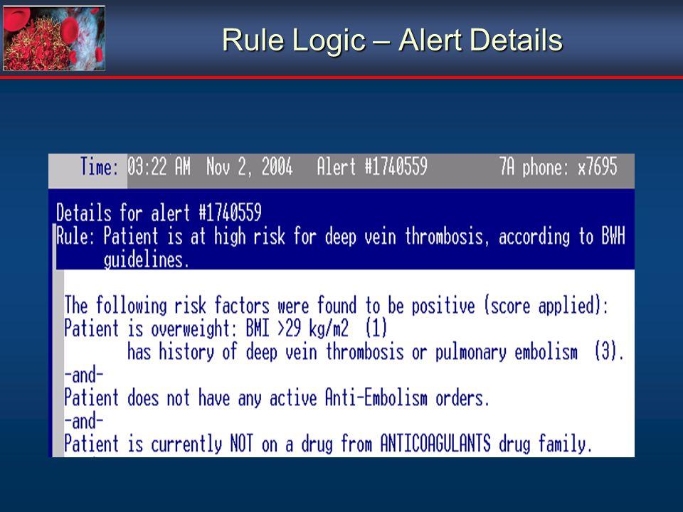 Rule Logic – Alert Details