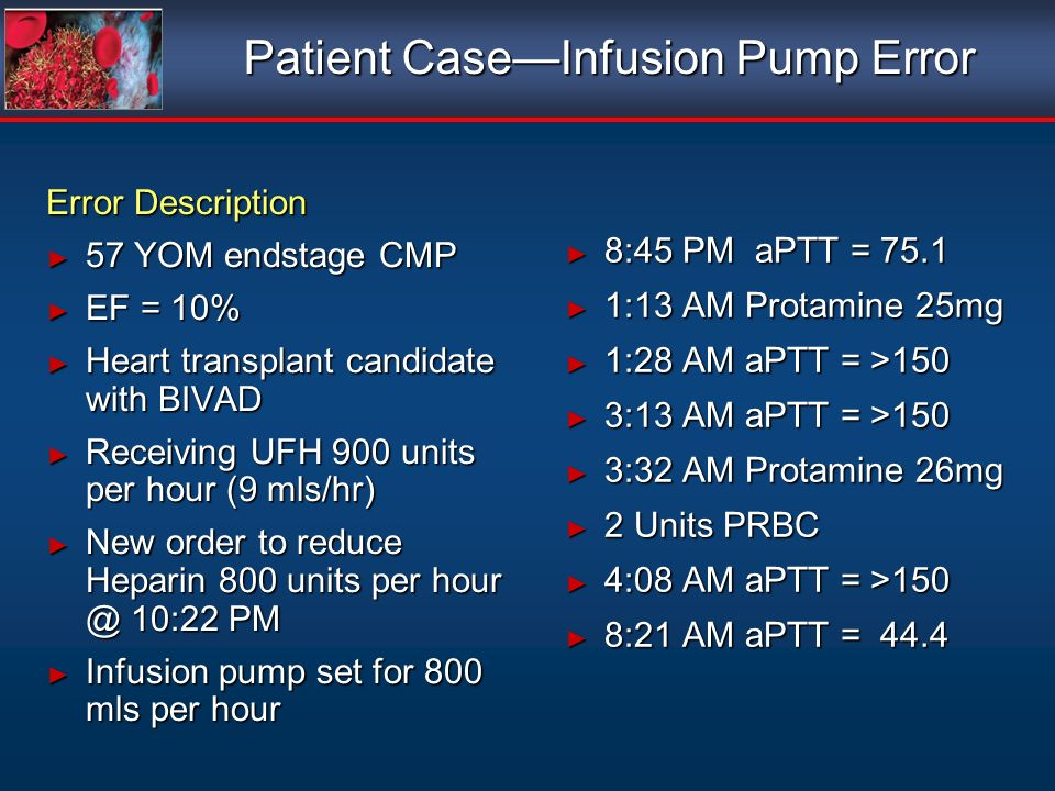 Patient Case—Infusion Pump Error