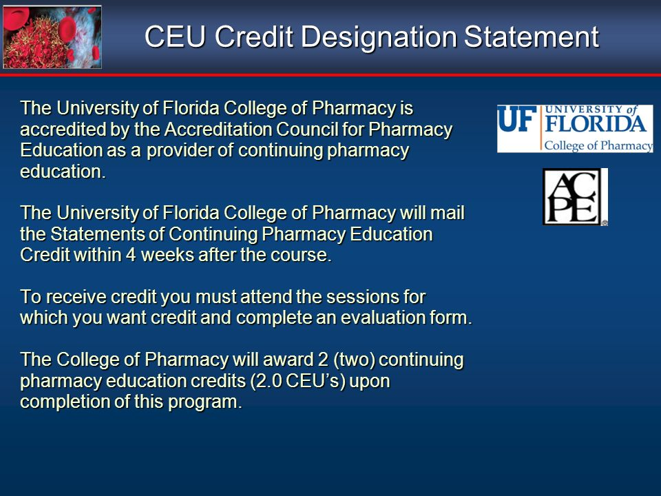 CEU Credit Designation Statement