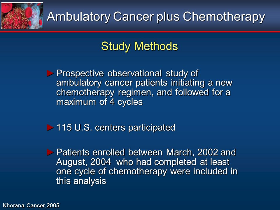 Ambulatory Cancer plus Chemotherapy