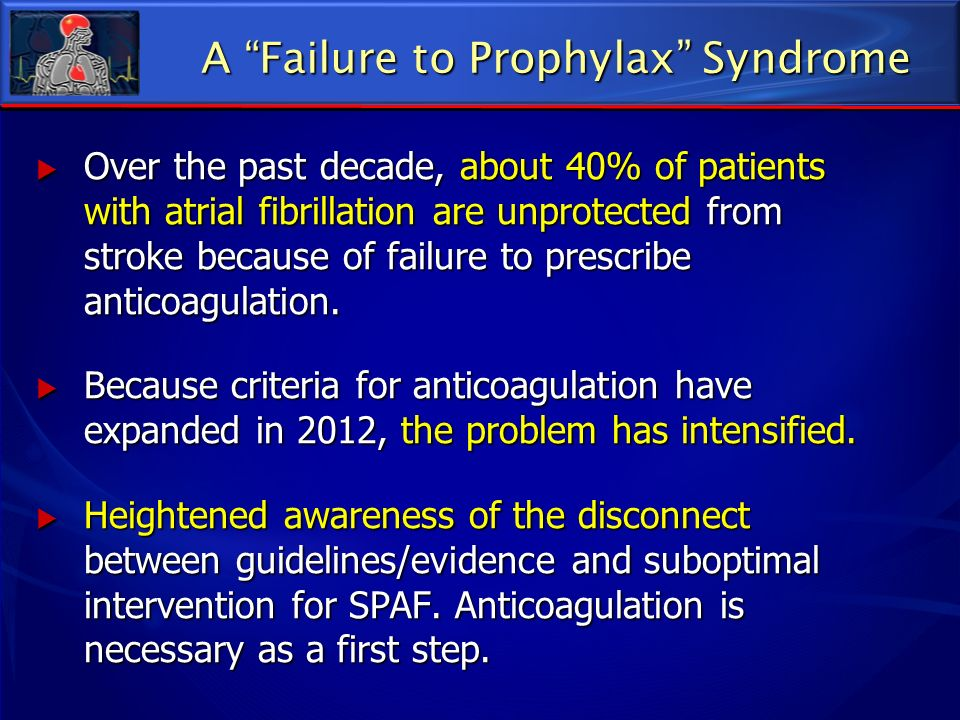 A Failure to Prophylax Syndrome