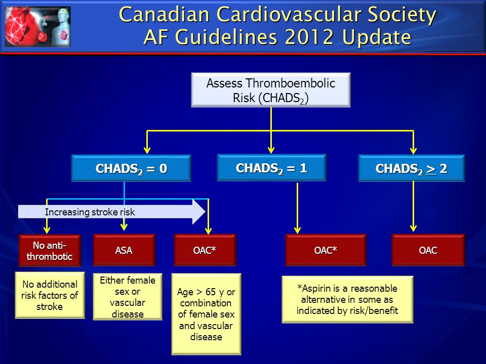Canadian Cardiovascular Society AF Guidelines 2012 Update