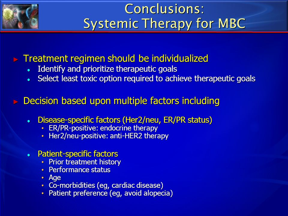 Conclusions: Systemic Therapy for MBC