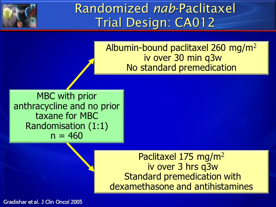 Randomized nab-Paclitaxel Trial Design: CA012