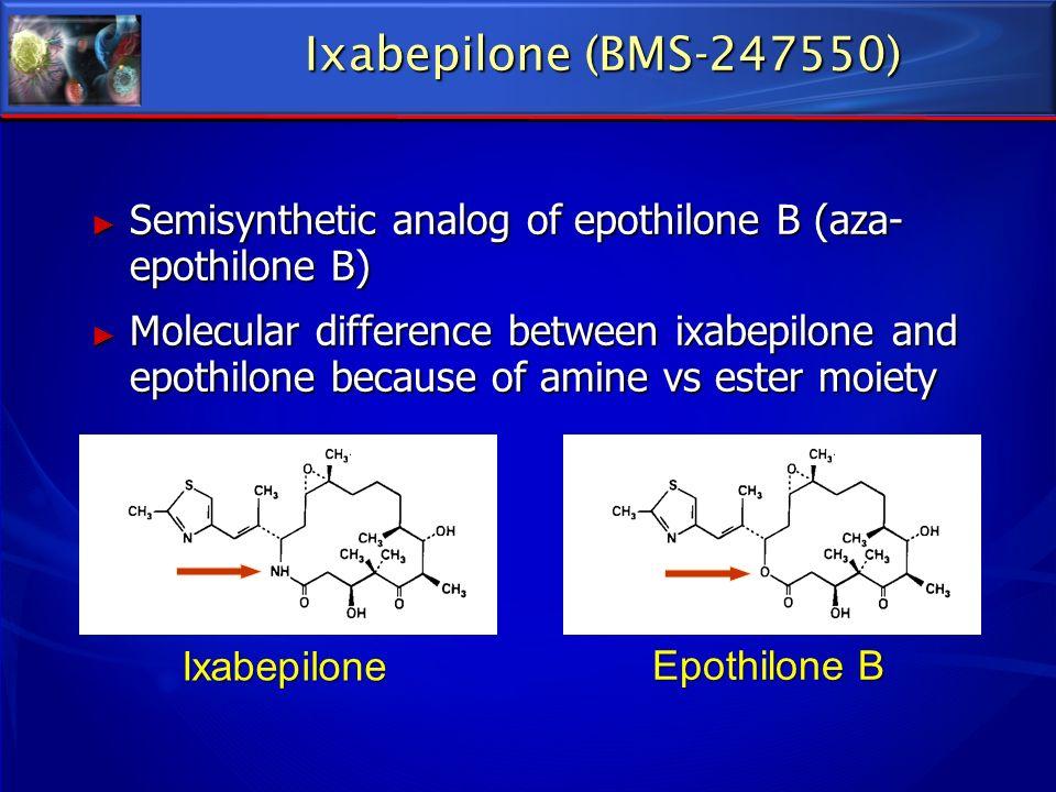 Ixabepilone (BMS-247550) Semisynthetic analog of epothilone B (aza-epothilone B)