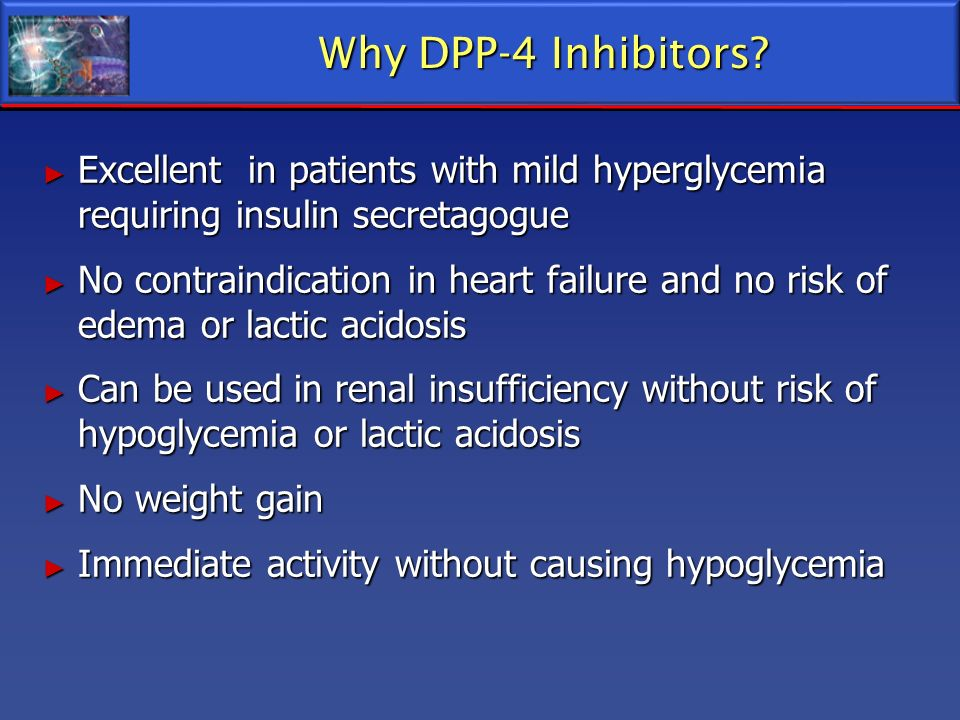 Why DPP-4 Inhibitors Excellent in patients with mild hyperglycemia requiring insulin secretagogue.