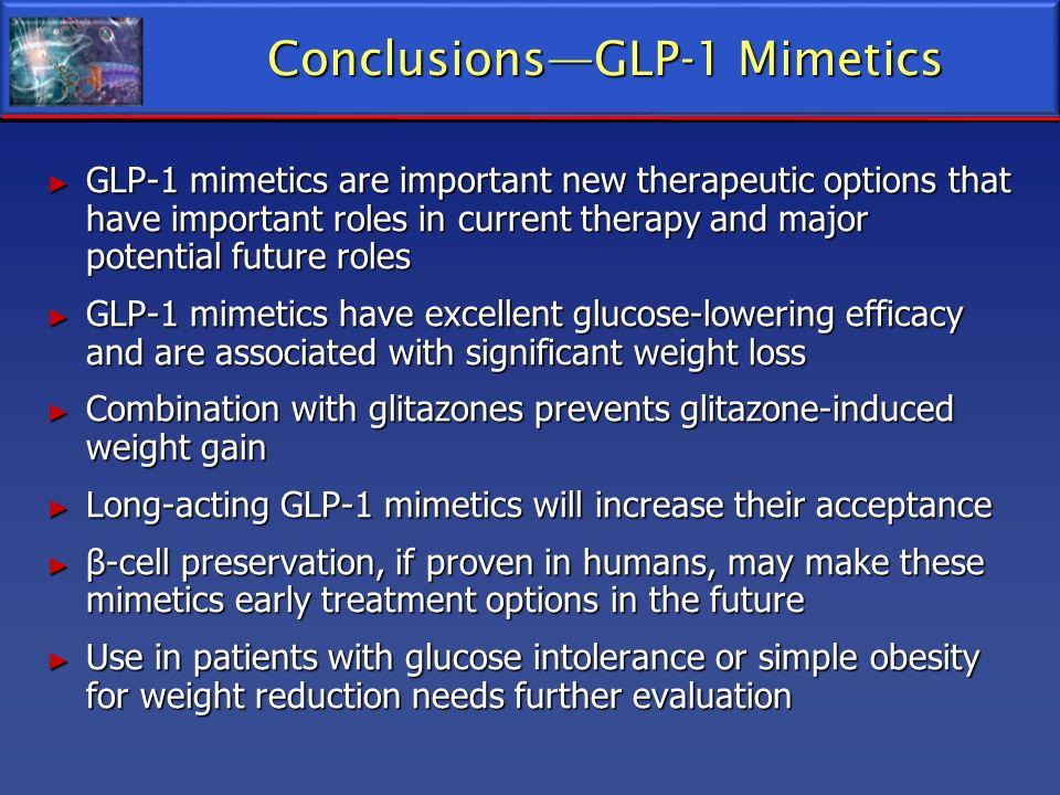 Conclusions—GLP-1 Mimetics