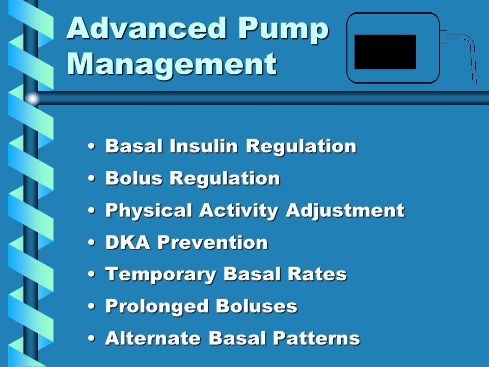 Advanced Pump Management
