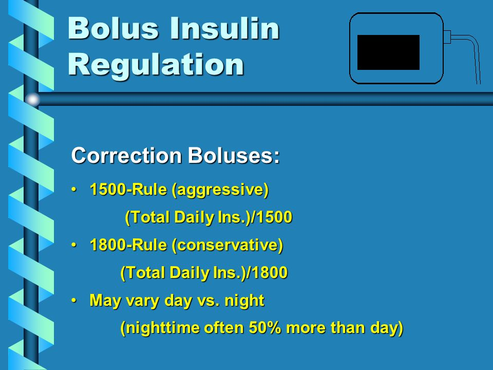 Bolus Insulin Regulation